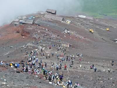 富士山 登山客 登山者